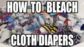Bleach Soaking Cloth Diapers