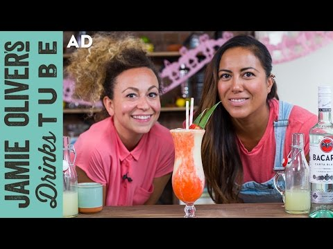 Miami Vice | Frozen Piña Colada & Strawberry Daiquiri Cocktail | May & Shev