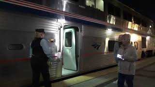 Amtrak #4 Southwest Chief departing Fullerton station with marti ann 2020-02-01