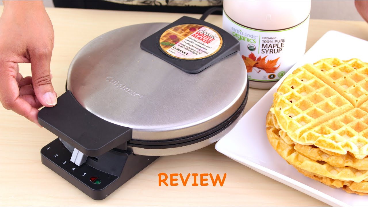 Cuisinart WMR CA Round Classic Waffle Maker Review   YouTube