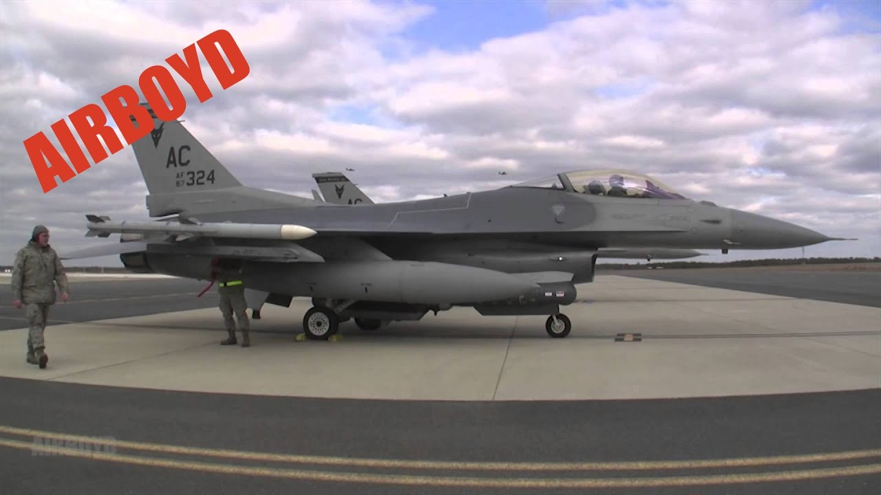 New Jersey Air National Guard F16s (2014) - YouTube