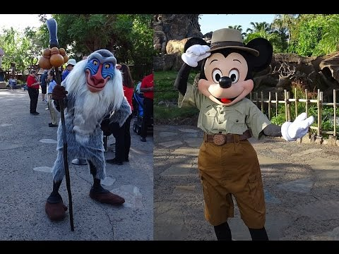 Barb interviews Rafiki and Mickey Mouse at Animal Kingdom preview Awaken Summer Media Event