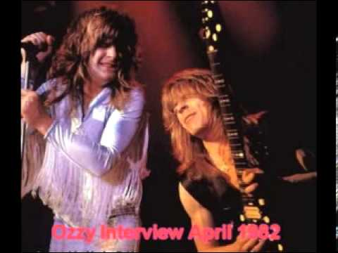 Ozzy Interview about Randy April 1982
