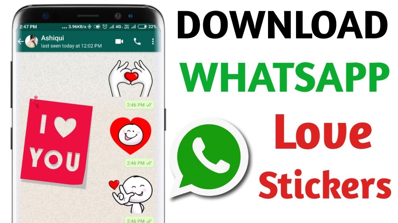 How To Get Love Stickers In Whatsapp Download Love Stickers For