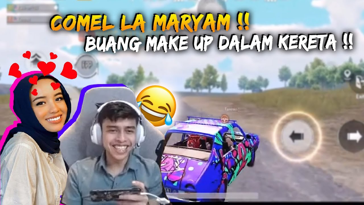 IronPro Tak Focus Sebab Maryam Tengah Buang Make Up Dalam Game | IronPro Game Play | PUBG Mobile