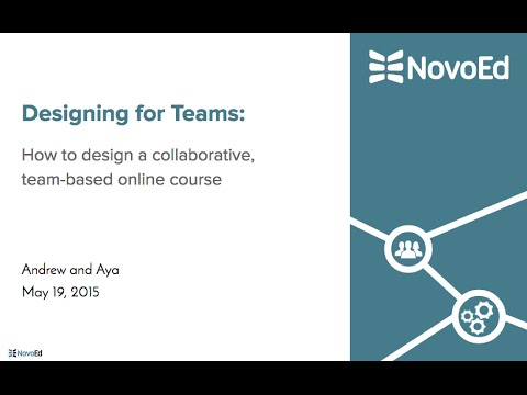 Webinar: Designing for Teams Online - How to design a collaborative online course