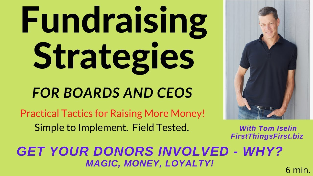 Get Your Donors Involved! Why? . . . Magic, Money, Loyalty!