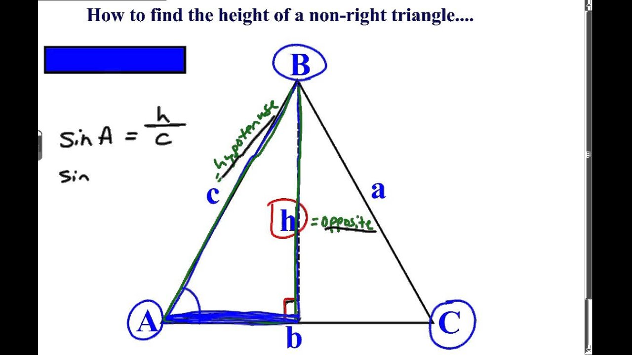 Khan Academy Talent Search Find The Height Of A Non Right Triangle