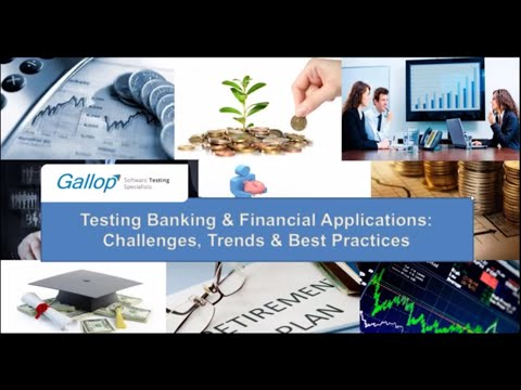 Webinar on Testing Banking & Financial Applications: Challenges, Best Practices | Gallop Solutions