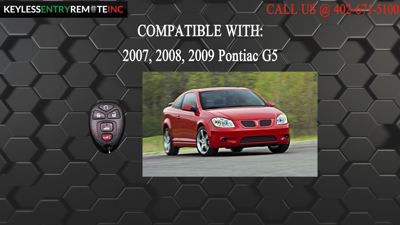 How To Replace Pontiac G5 Key Fob Battery 2007 2008 2009 Youtube