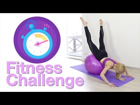5 min! Fitness challenge! Lower Back workout with yoga ball | LaFit Club