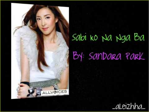 Sandara Park- Sabi Ko Na Nga Ba (with Lyrics)