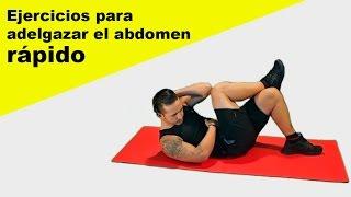 Ejercicios para adelgazar el abdomen en casa rápido - HIIT + abdominales