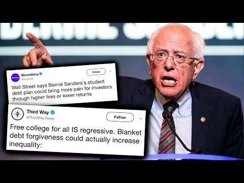 Attacks on Bernie Sanders' Student Loan Debt Cancellation Plan are Hilariously Dumb