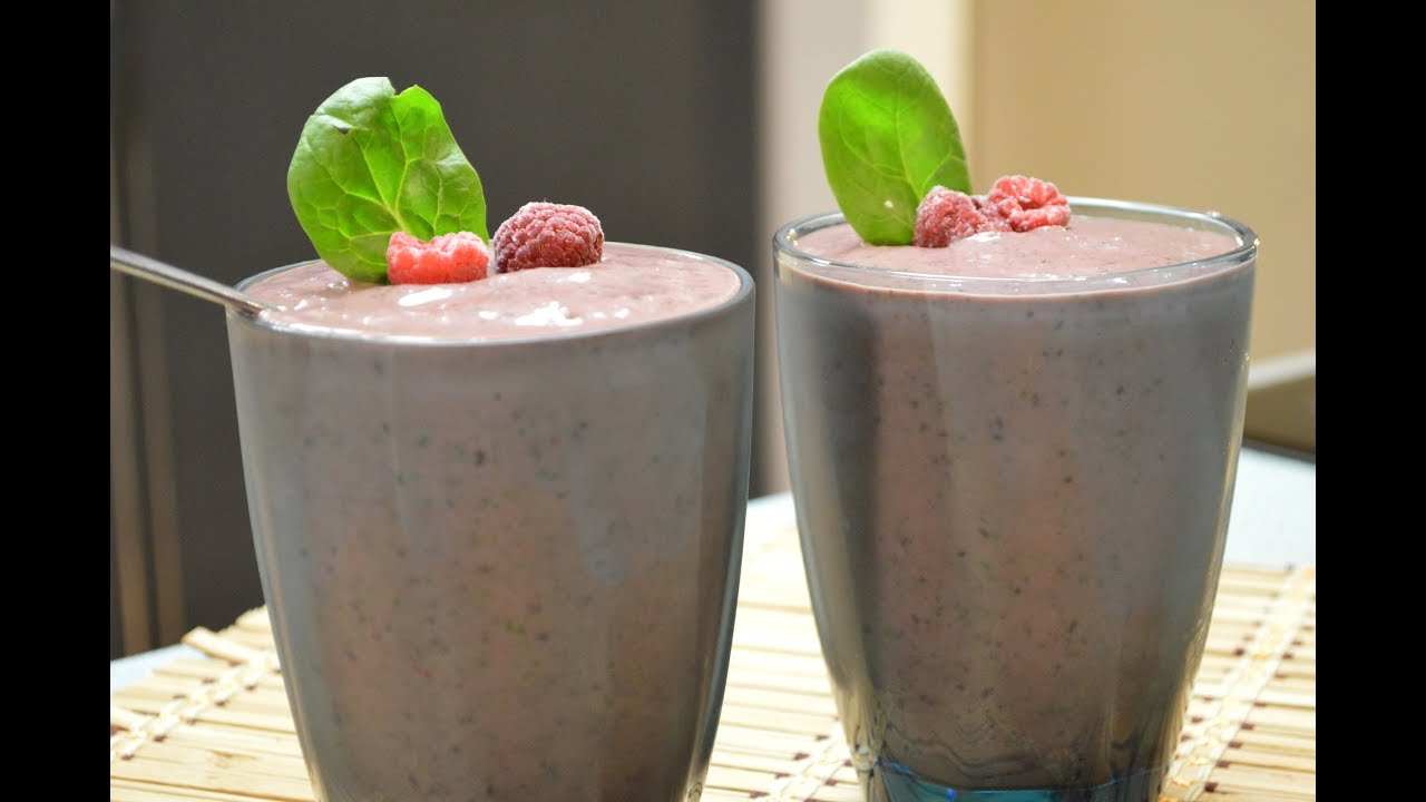 Fruit and veggie smoothie recipesBlueberry, raspberry, spinach