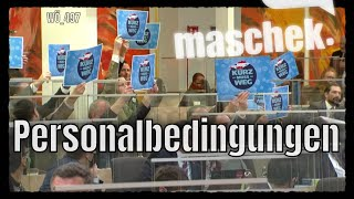 Maschek – Personalbedingungen