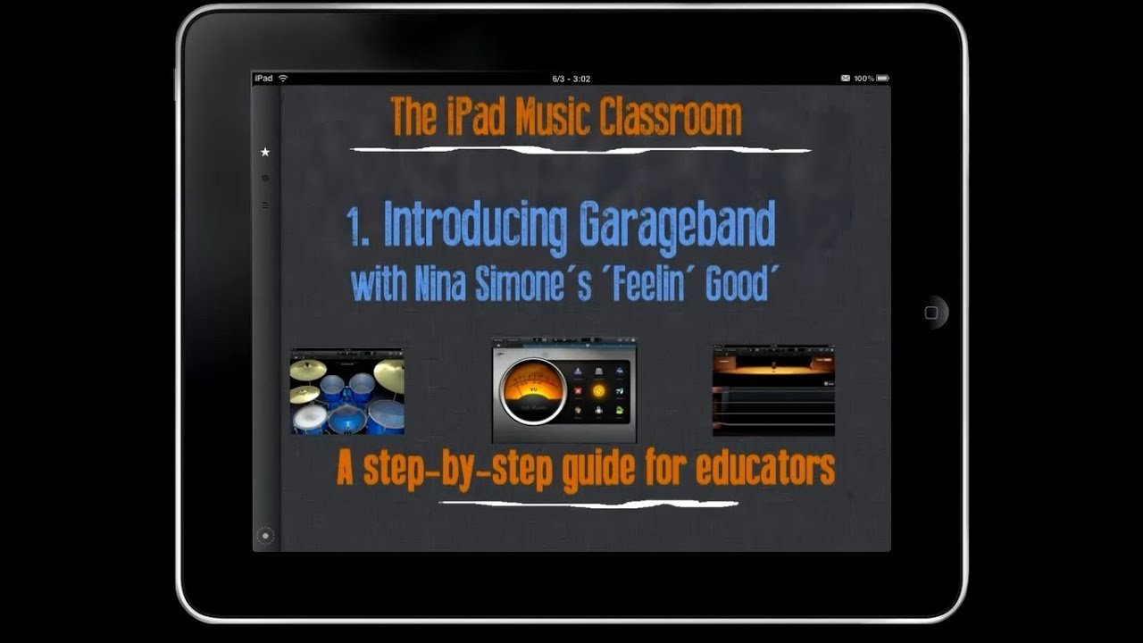 1 introducing garageband the ipad music classroom youtube rh youtube com iPad GarageBand Midi garageband for ipad user guide pdf