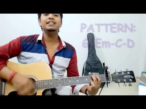 Maana ke guitar lesson Meri Pyaari bindu parineeti chopra easy chords guitar tutorial