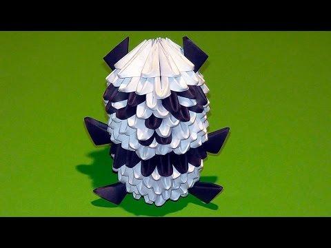 Модульное оригами панда схема сборки