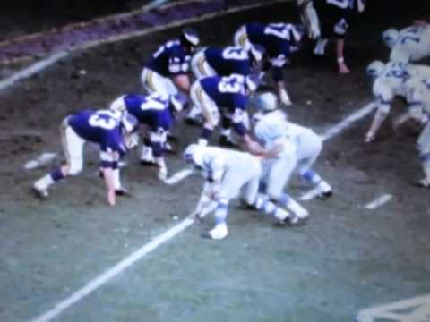 MN Viking vs Detroit Lions Film Clips Nov.15th 1970 No Sound