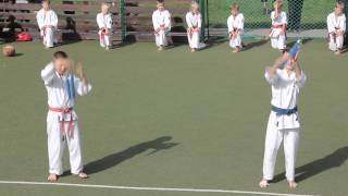 Josui Karate performance at the Dienvidu street Sports games in Salaspils. Latvia, 31 Aug 2013
