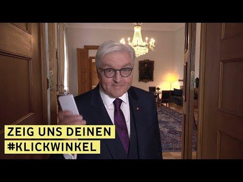 """""""Demokratie lebt von Debatten"""" / Bundespräsident Steinmeier ruft Schülerinnen und Schüler zur Teilnahme am Klickwinkel Videowettbewerb auf: """"Wir brauchen Euch!"""""""