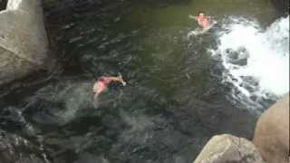 Swimming at Mammoth Reservoir