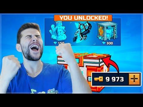 SPENDING 10,000 KEYS ON THE SUPER CHEST OPENING! | Pixel Gun 3D