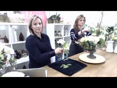 Winter Whites | Flower Arrangements - Bloom TV LIVE 20/6/16
