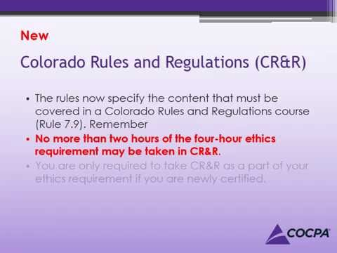 CPE Requirements & Changes for 2015  |  Colorado Society of CPAs