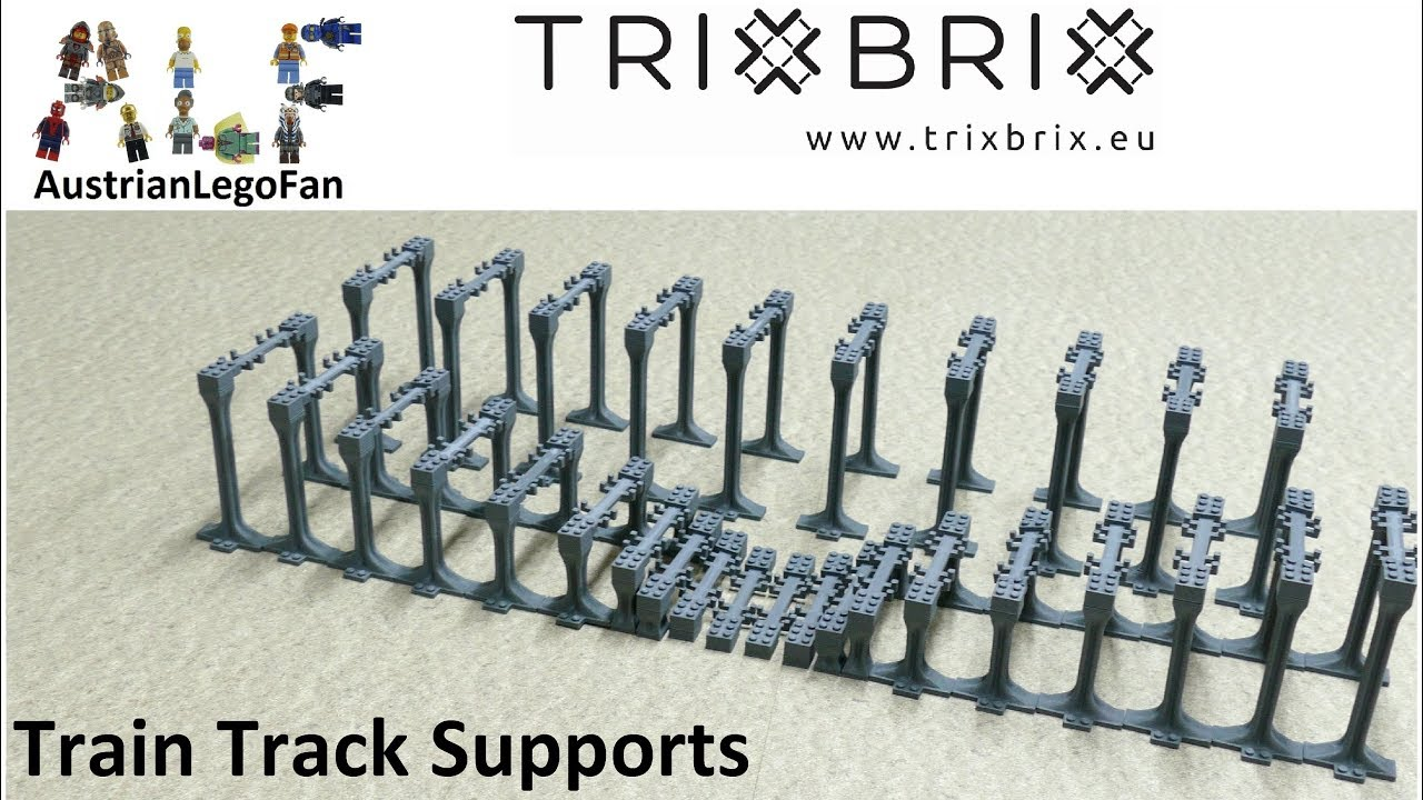 compatible with Lego TrixBrix train bridge with supports 3d printed!