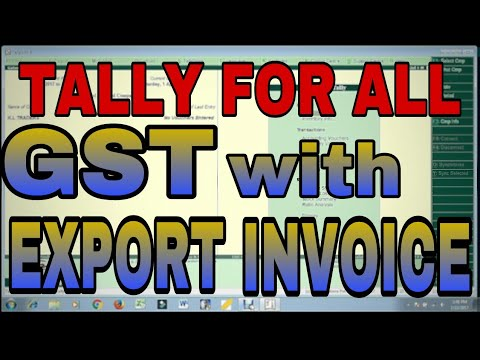 Gst With Exempt Taxable Lut Bond Export Invoice In Tally Erp9 Youtube