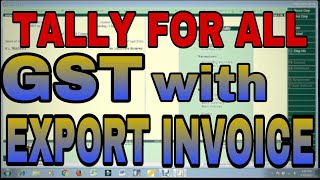 GST with EXEMPT/TAXABLE/LUT/BOND EXPORT INVOICE in TALLY.ERP9