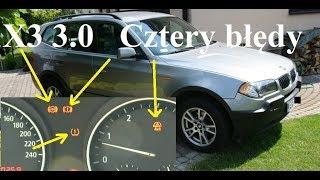 BMW X3 - 3.0d - Cztery błędy na raz, ABS, Trakcja, 4x4, Ciśnienie w oponach
