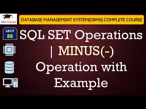 SQL Minus(-) Operator With Example In Oracle 11g Database(Hindi+English)