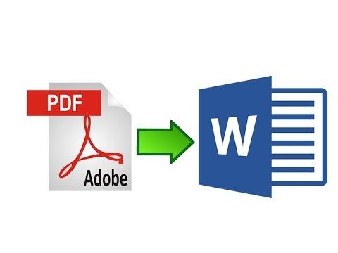 การแปลงไฟล์ pdf เป็น word ง่ายๆ