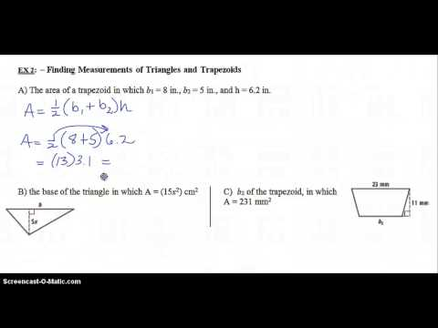 9.1 Developing Formulas For Triangles And Quadrilaterals