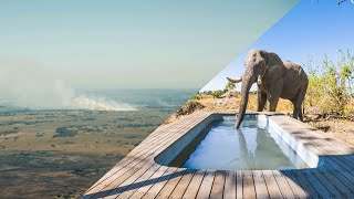 Flying VFR through CRAZY Bush Fires and an Elephant drinks out of our Pool!