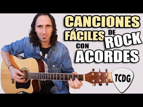 Estas Son Las 10 Canciones De Rock Más Fáciles Con ACORDES En Guitarra Acústica