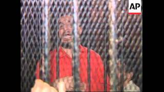 EGYPT: TRIAL OF 107 SUSPECTED ISLAMIC MILITANTS