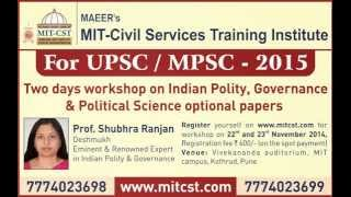 2 Days Workshop  By Prof. Shubhra Ranjan at MIT CST