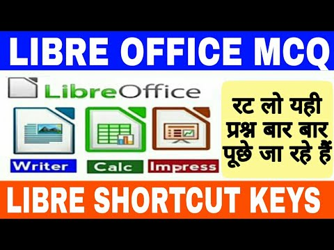 Download Libre Office Questions | LIBRE OFFICE shortcut keys|CCC Exam Preparation In Hindi