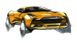 Car Sketch, Marker & Design(323 Free Lecture for outsiders)