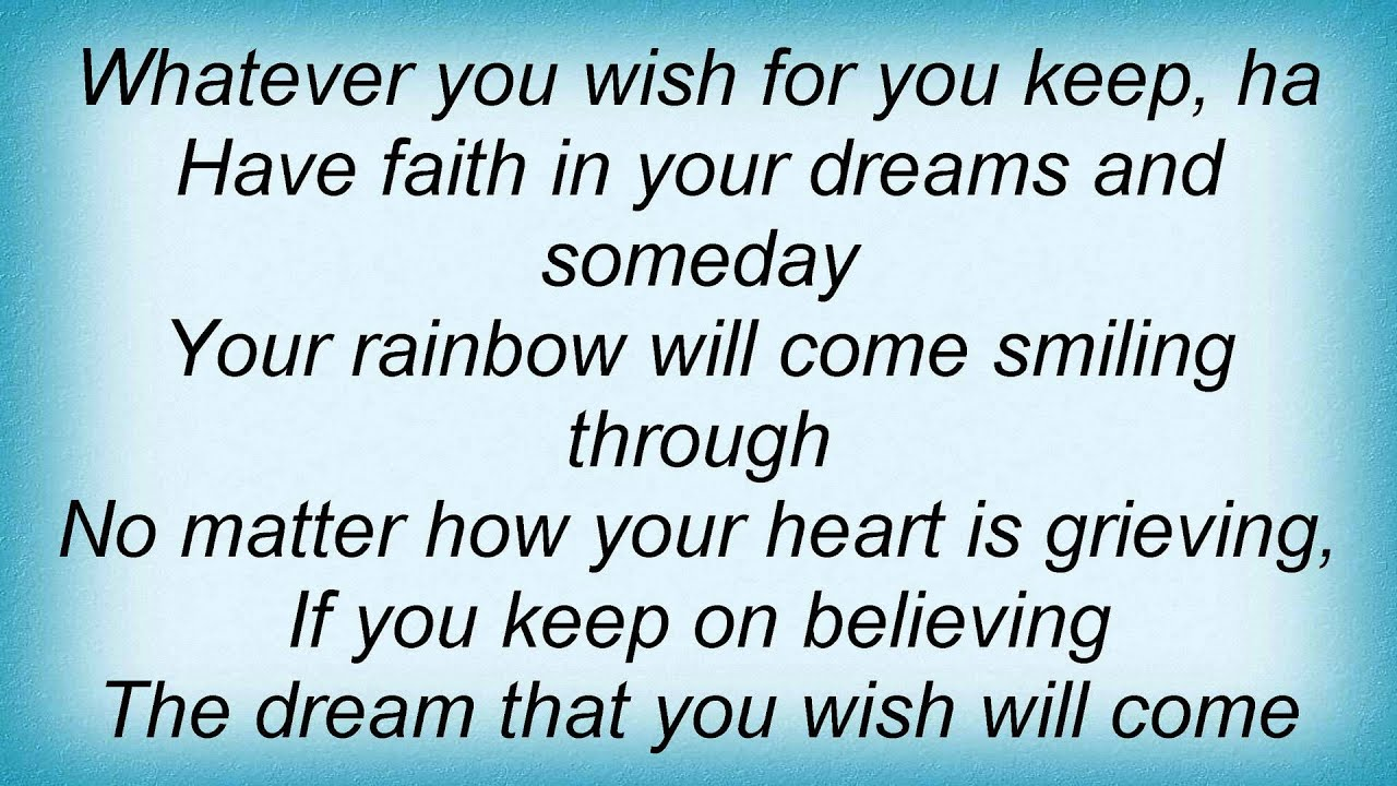 Ashley Tisdale - A Dream Is A Wish Your Heart Makes Lyrics ... A Dream Is A Wish Your Heart Makes Lyrics