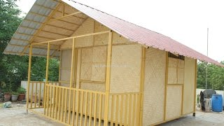 Constructing a Bamboo House (Terrace) - Process