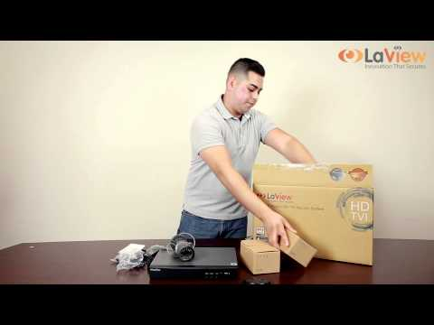 LaView Unboxing of Premium HD-TVI 4CH DVR Complete Security System