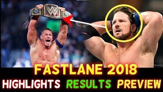 WWE Fastlane 2018 Hindi Highlights Predictions - John Cena vs Undertaker | AJ Styles -Results Winner