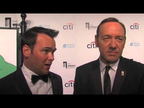 House of Cards Producers Kevin Spacey and Dana Brunetti on the Red Carpet at the 17th Annual Webbys