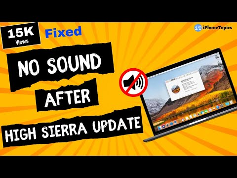 Fixed: No Sound After High Sierra Update