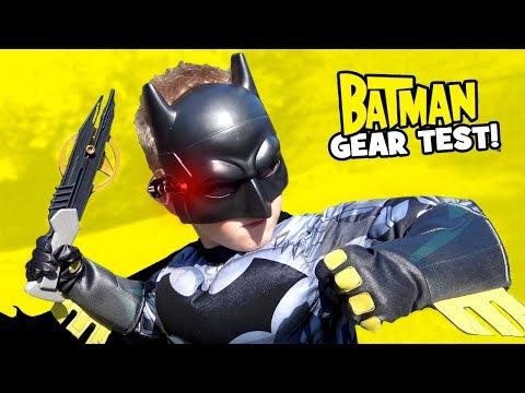 BATMAN Superhero Gear Test & Spy Gear Toys Review for KIDS! by KIDCITY